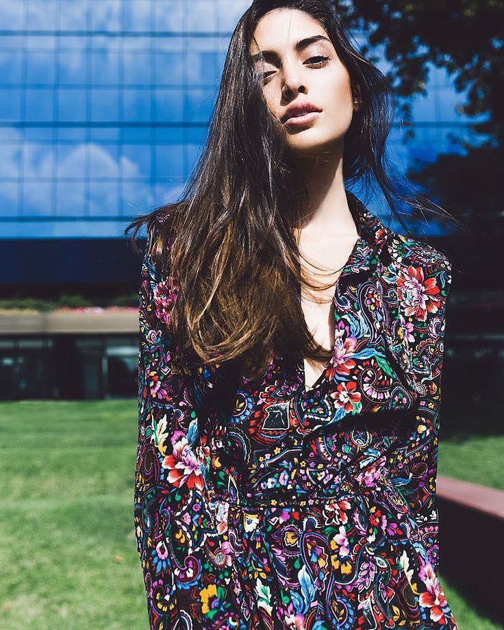 Photographer/Mua/Stylist @hollyparkerphoto Model @laraghraoui at @lamodels #fashion #editorial #dress #print #losangles #california #hollyparkerphoto by hollyparkerphoto