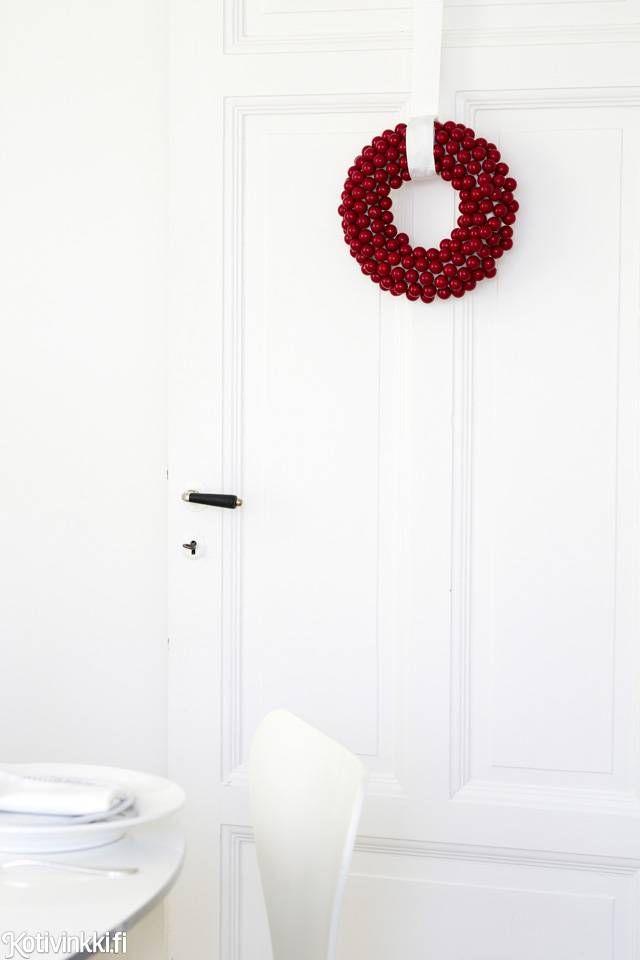Joulun puuhelmikranssit | Kotivinkki
