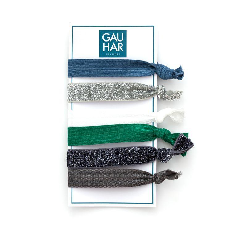 6 pieces of elastic hair ties