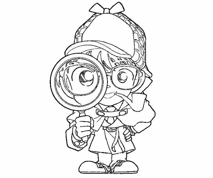 coloring pages of decetive - photo#2