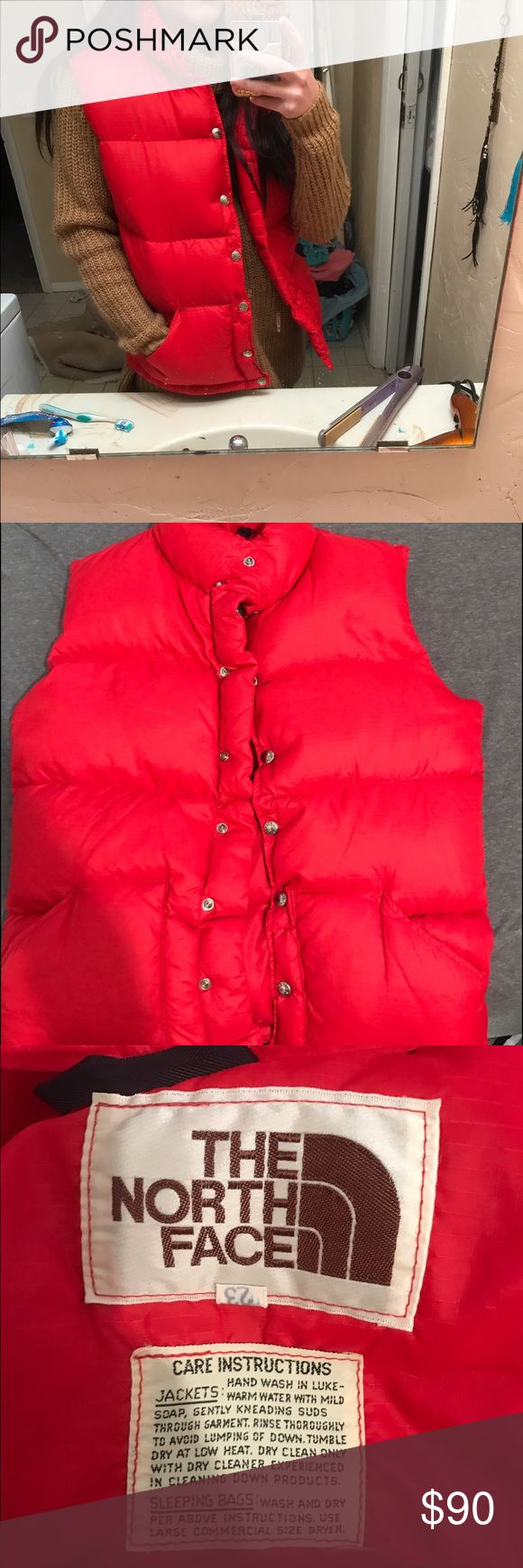 XS red north face puffy down vest. old jacket but great condition!! super warm North Face Jackets & Coats Vests
