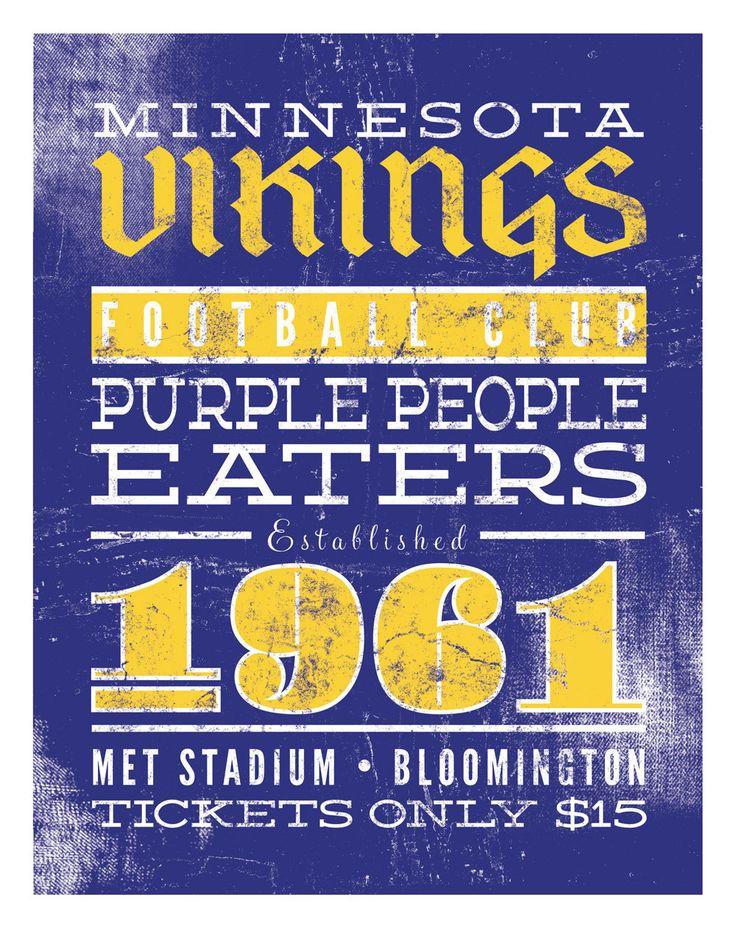 Vikings Football Print