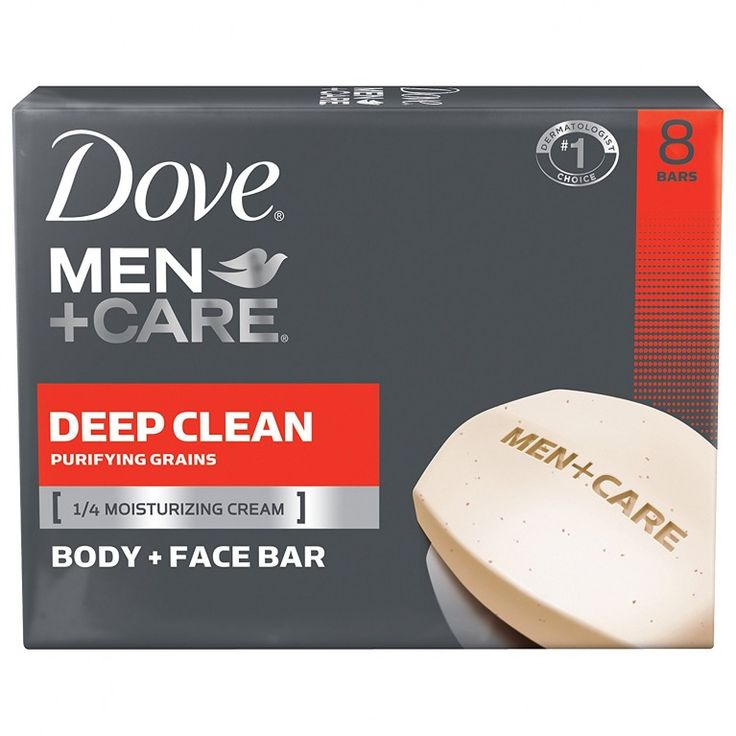 Dove Men Care Body and Face Bar, Deep Clean 4 oz, 8 Ba #men #grooming #mens #skincare #soap