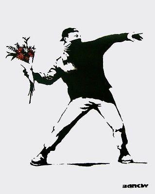 Flower Bomber, Offset Lithograph, BANKSY – Art Commerce