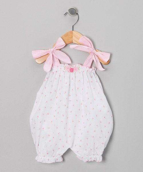 Love this White Floral Bubble Romper - Infant by Victoria Kids on #zulily! #zulilyfinds