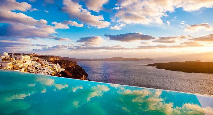 Piscine Cosmopolitan suites - Santorini