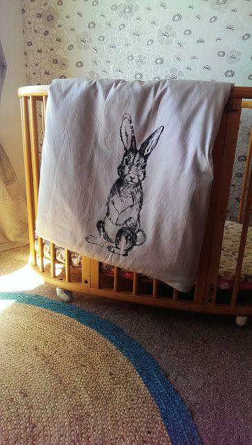 Rabbit Cot Duvet Cover