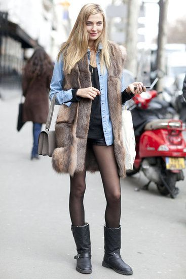 /: Street Fashion, Inspiration, Street Style, Fur Vests, Outfit, Winter Fashion, Closet