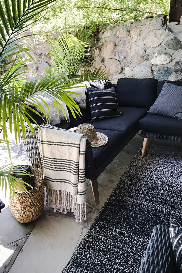 Ora Slate Gray Sectional Sectional Patio Furniture Black Patio