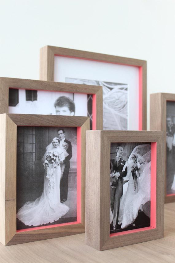 Neon and wood frames