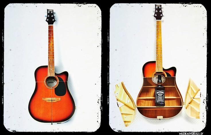 Broken Guitar Shelf Jack Daniels