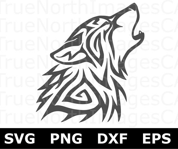 Wolf Svg Files Wolf Clipart Howling Wolf Svg Wolf