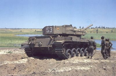 Cuban soldiers capture a South African MBT during The Battle of Cuito Cuanavale in March 1988.