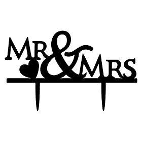 Taarttoppers Niet-persoonlijk Monogram acryl Bruiloft / Trouwdag / Bruidsshower Zwart Tuin Thema / Klassiek Thema 1 OPP