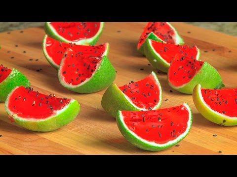 Jello shots de melancia - YouTube