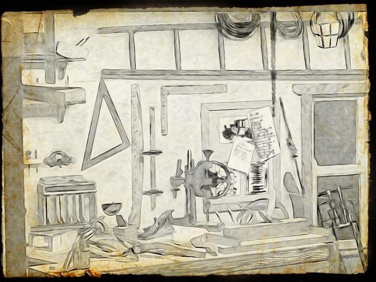Ray Faull's miniature workshop