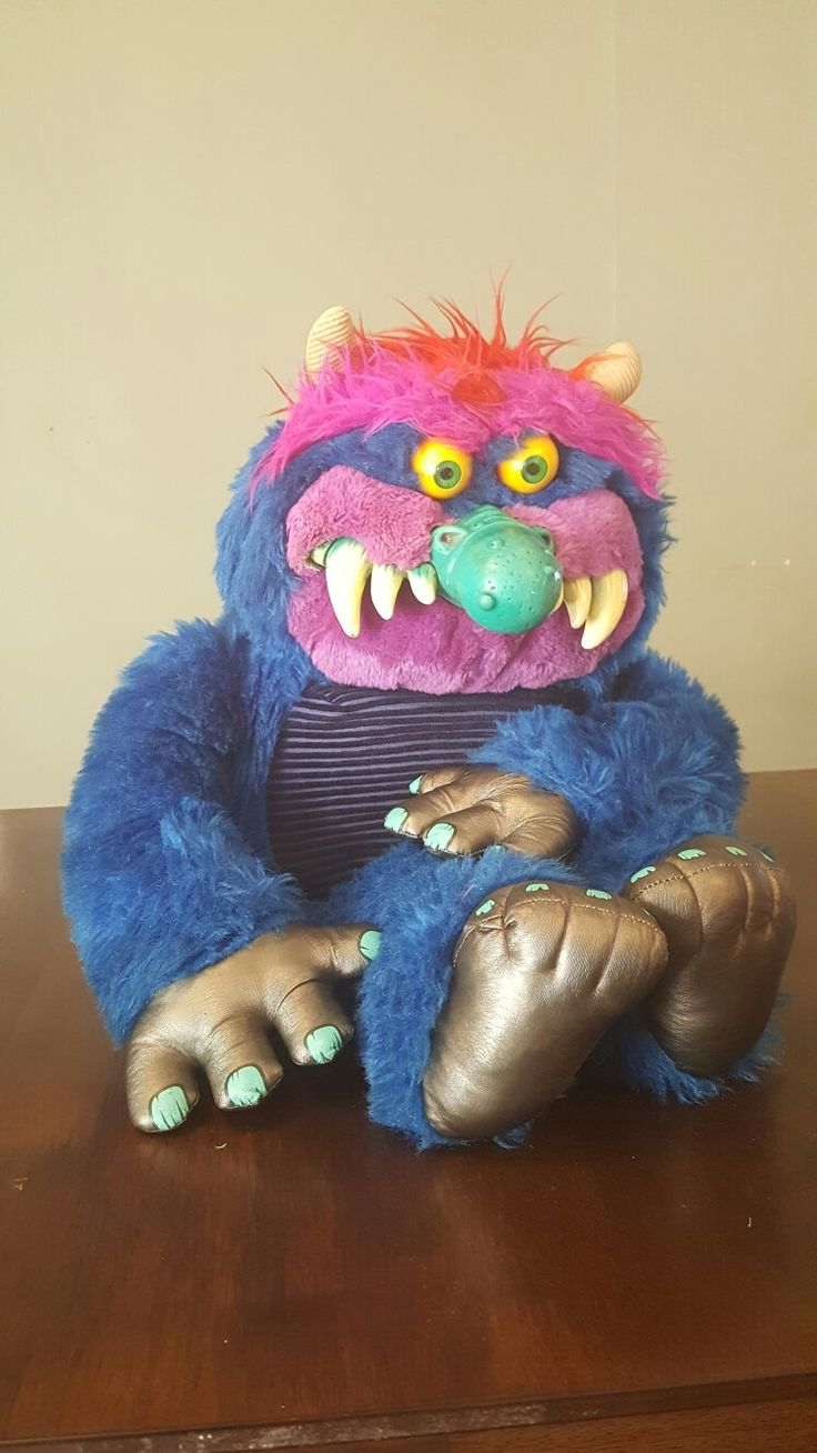 The free gift I'm giving away with the 1986 vhs movie Thrashin' is the 1986 toy My Pet Monster