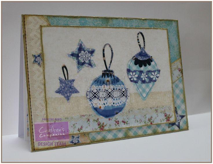 Pauline Bird, Romany Christmas CD, Fabric Companion 10, Design Set 1 Colour 2, Co-ordinating Papers: 7 Colour 5, 11 Colour 5, Verse Writer - #crafterscompanion #Christmas
