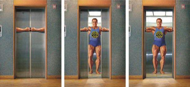 Clever Elevator advert - Gold's Gym Elevator
