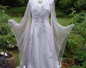 Wiccan Wedding Dresses | ... pagan wedding dress / handfasting gown UK 8 to 14 / US 6 to 12