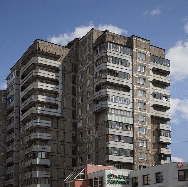 Soviet Buildings Style Apartment Building Kaliningrad Russia 4