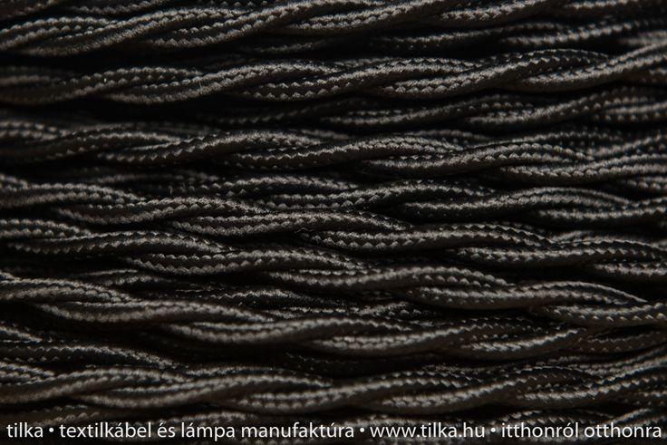 Rendelj tilka csvart fekete textilkábelt méterre vagy kérd design lámpaként vintage izzóval, hosszabbítóként. tilka.hu