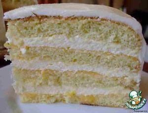 Рецепт: Торт с лимонным муссом и кердом