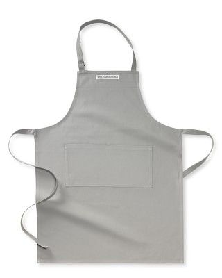 Aprons! Bib aprons are most useful, from Williams-Sonoma.
