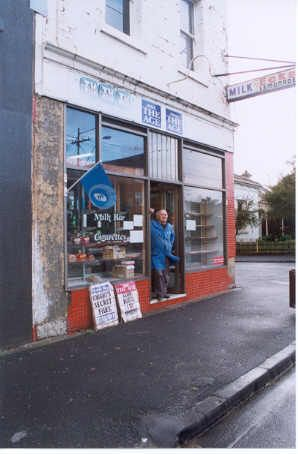 Milk Bar at 319 High Street, Prahran, in 2001.  Petros (Peter) Hronopoulos ran his milk bar at 319 High Street Prahran from May 1965 until his retirement in July 2001. It is said to have been the first milk bar in the general area. Petros and his wife raised a family of four boys in the residence above the shop.