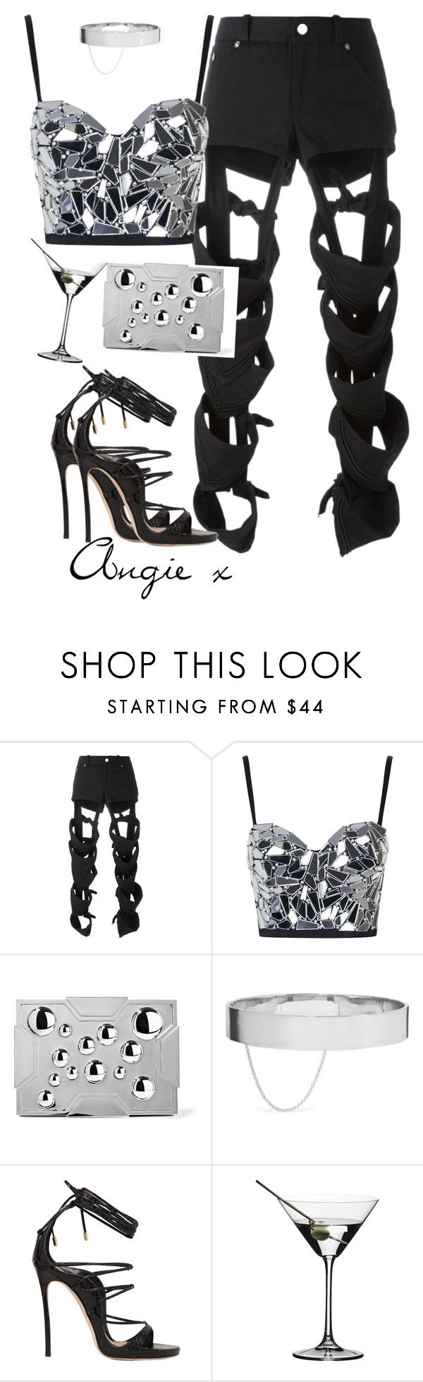 """""""Untitled #367"""" by stylzbyang ❤ liked on Polyvore featuring Nasir Mazhar, Topshop, Lee Savage, Eddie Borgo, Dsquared2 and Riedel"""