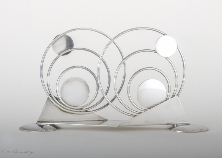 Art Deco Napkin Holder WMF Germany Silver-Plated Brass. €48.00, via Etsy.
