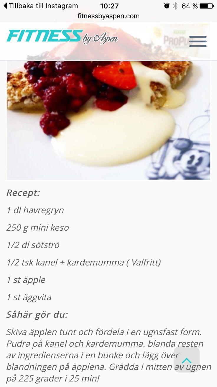 Oooh my...😋 / Gudomligt god och nyttig Äpple och Havremums! Gott behöver inte vara onyttigt och servera detta med protein vaniljsås från @propud 😍 Recept finner ni i min blogg samt Marcos! #propud #njiesverige @njiesverige #healthychoices #healthyfood