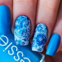 Голубой маникюр: фото и идеи дизайна ногтей в голубых тонах