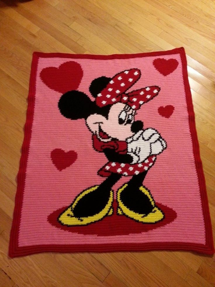 Free Crochet Pattern For Minnie Mouse Afghan manet for