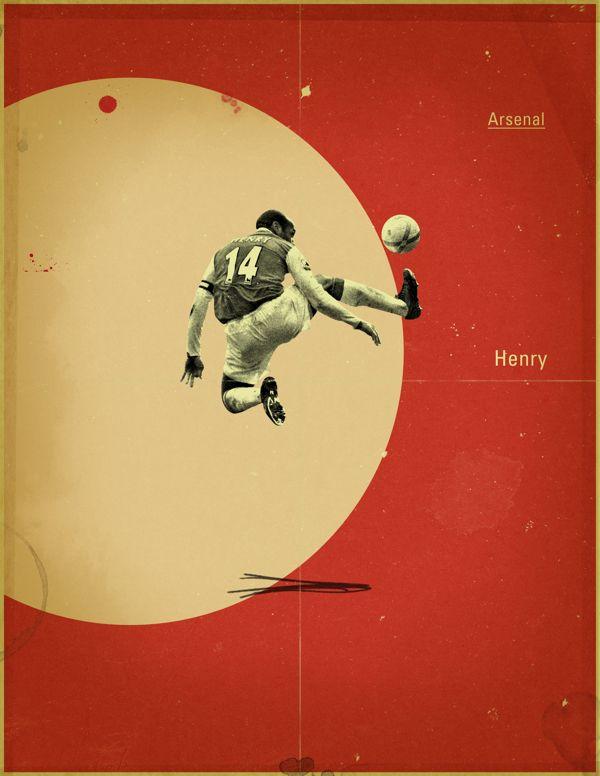 Famous Footballers by Jon Rogers, via Behance #soccer #poster #henry