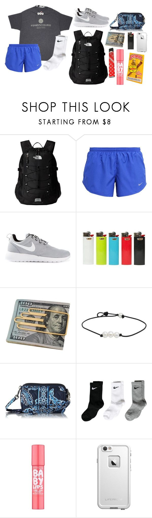 """bop"" by pastikamariel on Polyvore featuring St. John, The North Face, NIKE, Cartier, Vera Bradley, Maybelline and LifeProof"