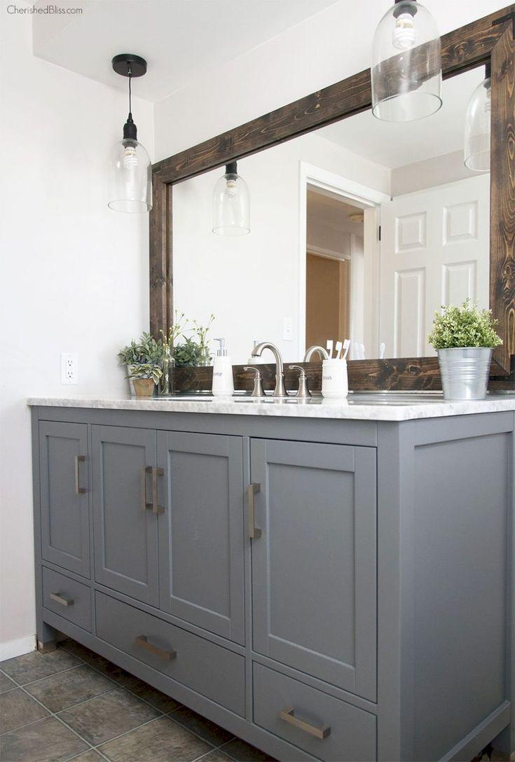 Nice 30 Rustic Farmhouse Bathroom Vanity Ideas https://homeylife.com/30-rustic-farmhouse-bathroom-vanity-ideas/