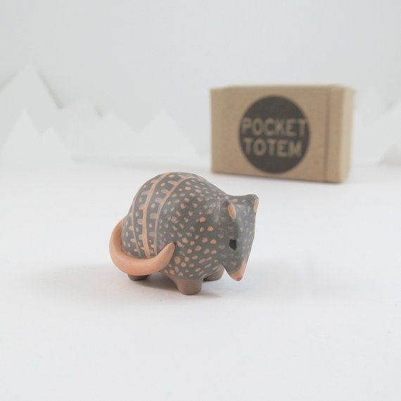 LOVE THIS!! Armadillo pocket totem figurine by HandyMaiden on Etsy