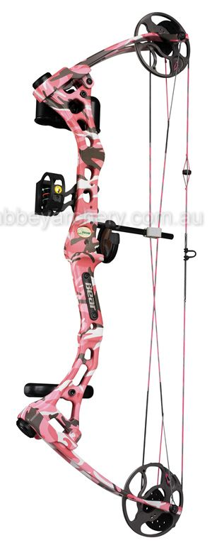 Bear apprentice 2 pink camo bow: just bought this bow tonight at broken arrow. Love shooting it. Super light! Can't wait for hunting season!!