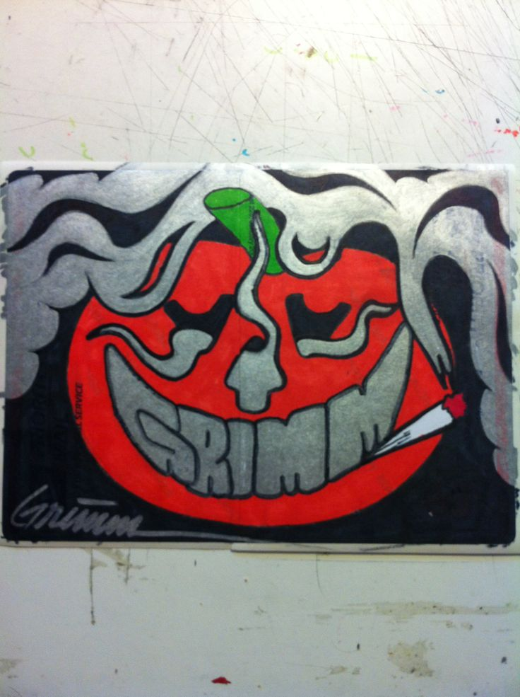 Artist Grimm Smokin Bucco Sticker