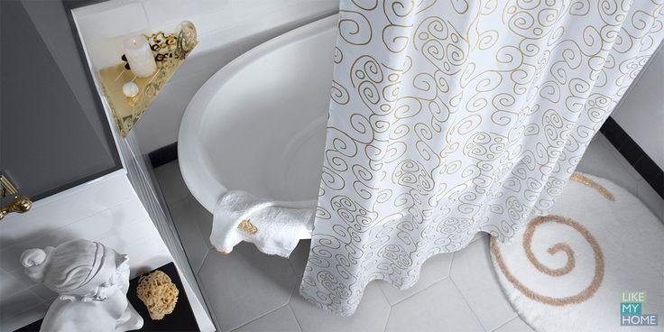 Capriccio Торговая марка: WESS Capriccio - это классика и импровизация, яркость и утонченность, частичка Италии в Вашем интерьере. Создайте уют, дополнив интерьер ванной комнаты аксессуарами коллекции Capriccio: занавеска, кольца для занавески, карниз, полки. #wess #likemyhome #новинки  #душевая #интерьер #ванная #аксессуары #керамика #декор #оформление #хранение