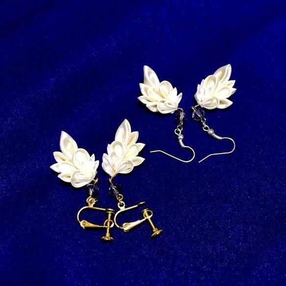 天使の羽ピアス・イヤリング|ピアス|こんこん狐福|ハンドメイド通販・販売のCreema