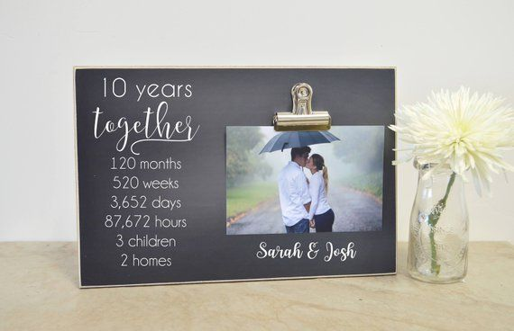 10 Year Wedding Anniversary Gift Anniversary Photo Frame 5 Year Anniversary Anniversary Gift F Girlfriend Anniversary Gifts Wedding Anniversary Gifts Anniversary Photos