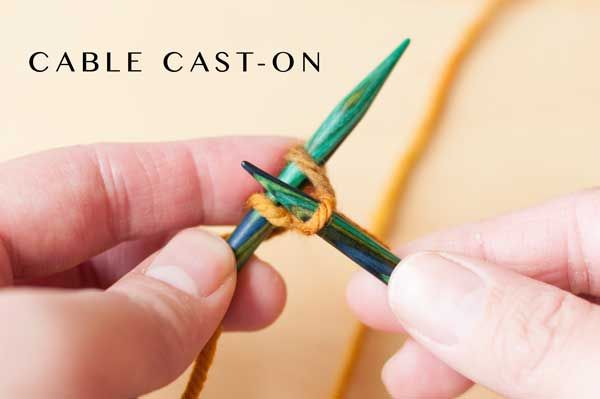 Stymied by slipknots? Confused by casting on? Learn the cable cast-on step by step with this detailed tutorial!