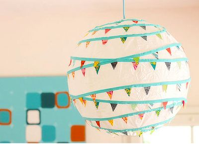 I'm always looking to other alternatives to balloons, streamers, and the recent popular hanging tissue pom poms. This is one is great!