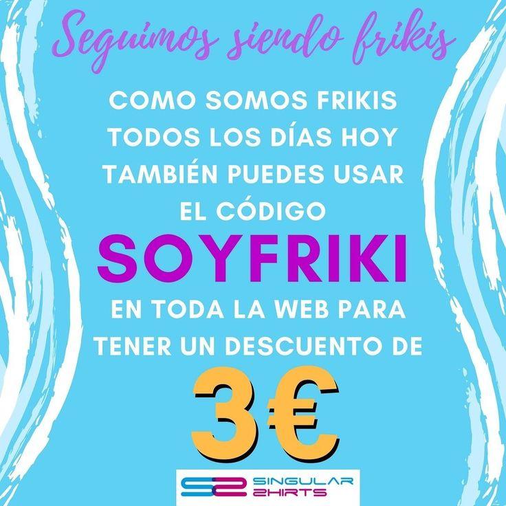 Ya sabemos que el Día del Orgullo Friki y el Día de la Toalla fueron ayer pero es que somos frikis todos los días (unos más que otros) y por eso queremos que dure un poco más  así que el código SOYFRIKI puedes usarlo también hoy hasta las 00.00 como Cenicienta #SoyFriki #DiarOrgulloFriki #Friki #Descuento #Camisetas #Viernes
