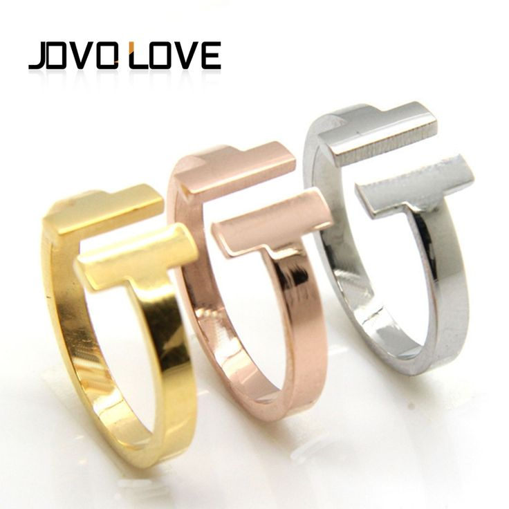 Find More Rings Information about Promotion 2016 Trendy Hot Sale T Jewelry Lovers Rings Fashion Brand Women T Ring Stainless Steel Anillos Jewelry Gifts Size 6 8,High Quality love ring,China engagement ring Suppliers, Cheap fashion engagement ring from MSX Fashion Jewelry on Aliexpress.com