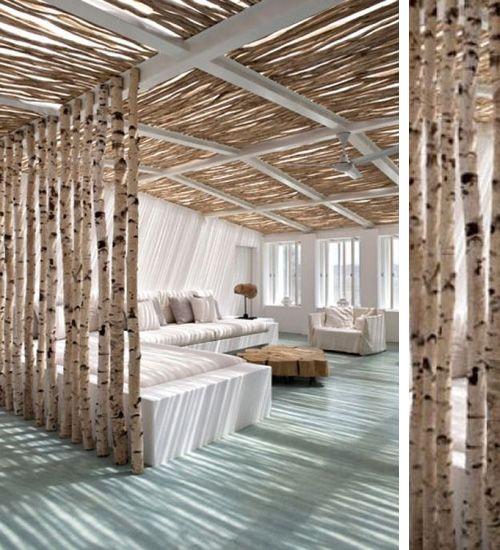 10 ideas para separar ambientes sin ocultar troncos - Cortinas para separar ambientes ...