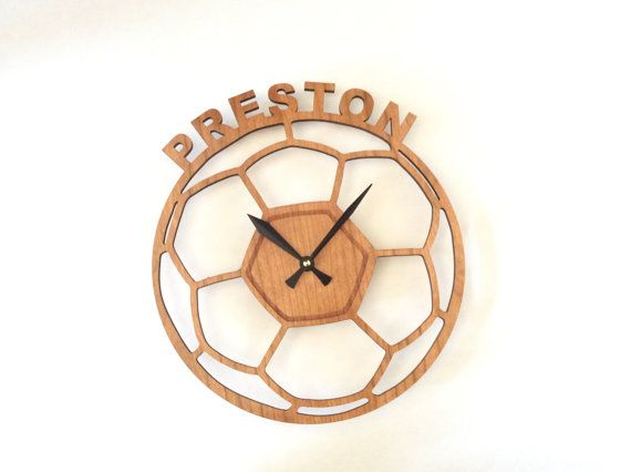 Personalized wall clock Kids wall clock soccer large by artbiheart