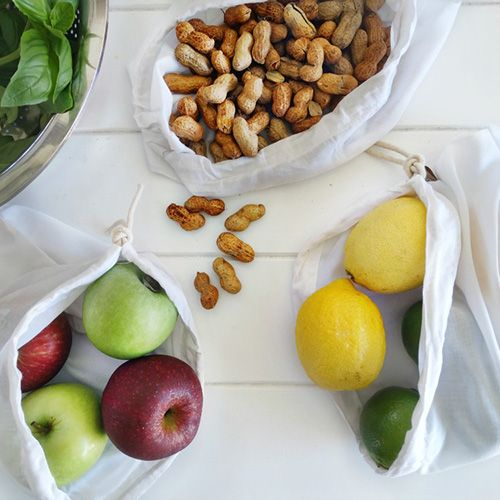 Ditch single use plastic bags while fruit & veg shopping. Doubles as a nut milk bag. Made from 100% bamboo.